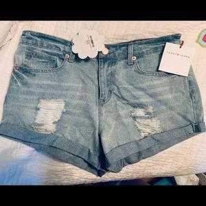 NWT denim shorts, sz Medium Reg. 43.99